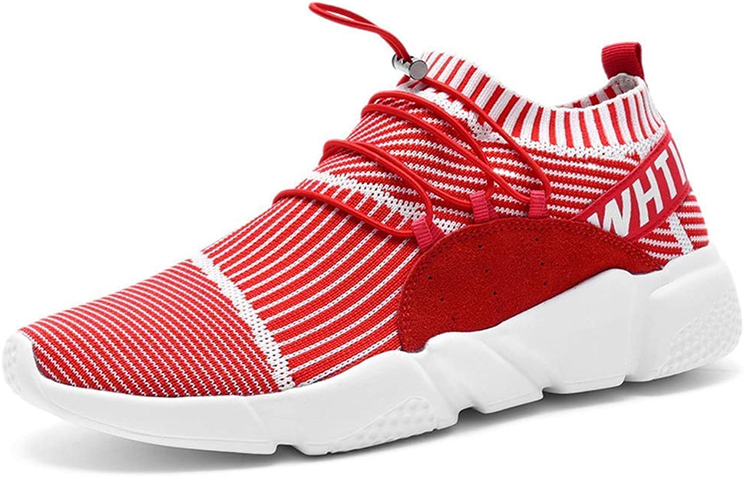 ZHRUI Men Sneakers Comfortable Breathable Trainers for Male Flat Casual shoes (color   Red, Size   6UK=40 EU)