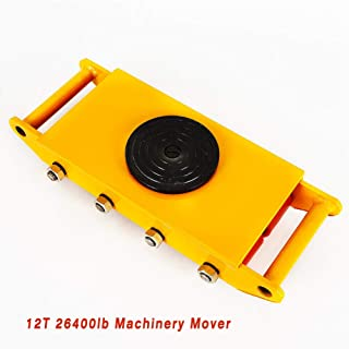 Machinery Mover, TBVECHI Heavy Duty 12T 26400lb Machine Dolly Skate Roller Machinery Mover Transport Tool 360 Rotation with 8 Rollers 27.5KG (US Stock) Yellow