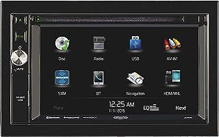 Jensen JRV9000R Touchscreen Multimedia Navigation System, AM/FM Tuner with RBDS, DVD/CD/MP3/WMA Playback, Built-in Bluetoo...
