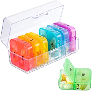 Sponsored Ad - Zoksi Weekly Pill Organizer 2 Times a Day, Rainbow 7 Day Am Pm Pill Box, Daily Am Pm Pill Organizer 7 Day, ...