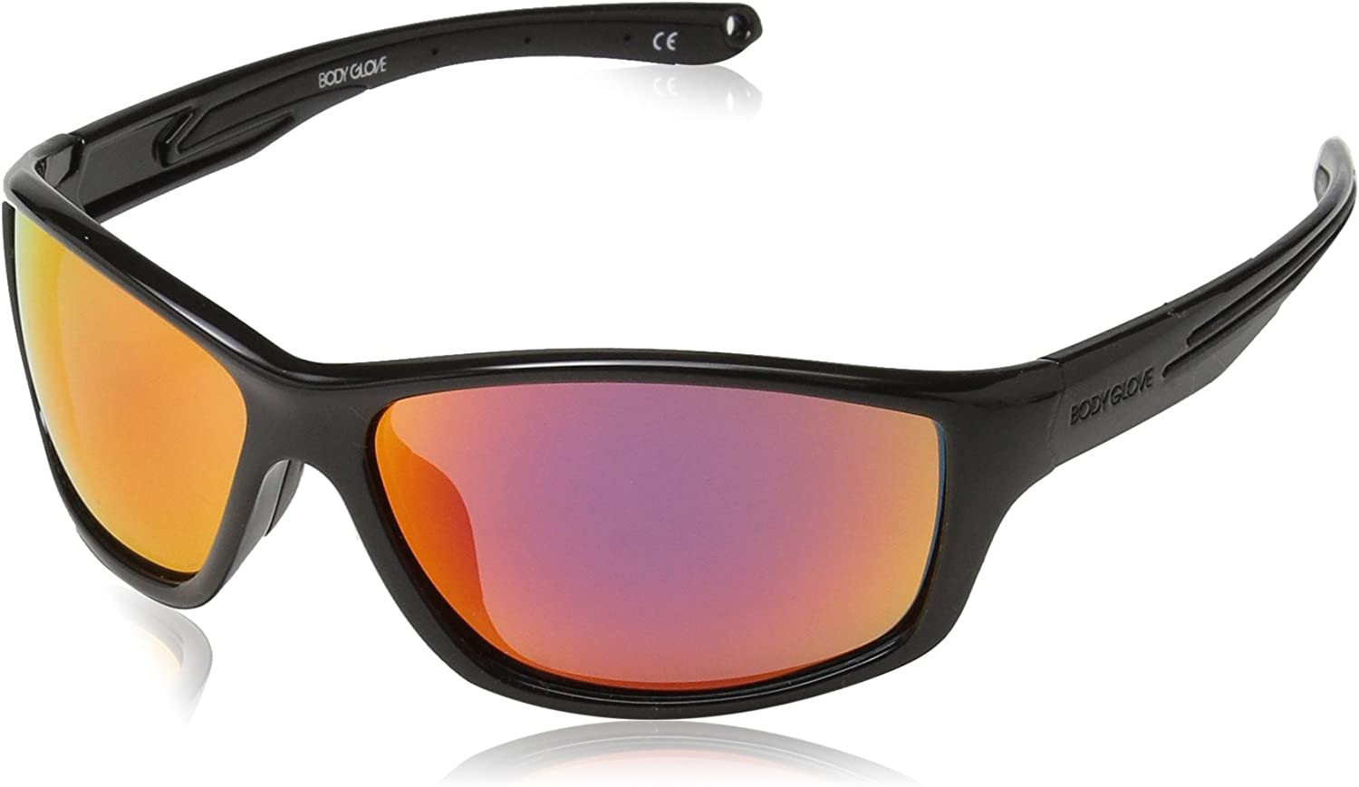 Challenge the lowest price of Japan Body Glove Men's FL25 Sunglasses Black Wrap Polarized Shiny Red Max 62% OFF