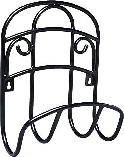 Liberty Garden 231 Wall Mount Decorative Wire Garden Butler Hose Hanger, Black