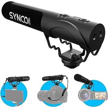 Microfono per Reflex, SYNCO Mic-M3 Microfono Esterno Fotocamera Direzionale Condensatore Supercardioide, Microfono dslr Compatibile per Canon, Sony, Nikon, Panasonic