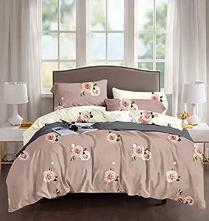 LOLAI Kingsize (220X240) Bedsheet 6pcs One Set High Cotton Quality Bedding Set Duvet Cover (Panda Paradise-Checkered Black)