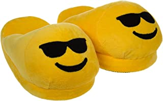 Emoji House Slippers Funny Soft Plush for Adults Kids Teens Bedroom Smiley Comfy Socks Womens Girls