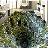 3D Stereo Super Schock Mine Boden Malerei Wandbild Fototapete Wohnzimmer Badezimmer PVC Wasserdicht, 150 * 105 cm