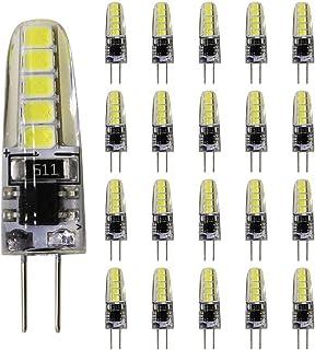 20 bombillas LED G4, luz blanca fría, 3 W, 220 V, repuesto para bombillas halógenas de 25 W, 10 SMD 2835, CA 220-240 V, 240 lúmenes, 360 grados