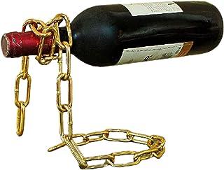 LQIQI Rangement Bouteille en Métal Countertop Support De Vin Casier À Vin Casier À Bouteille Artisanat Décoration Fantaisi...