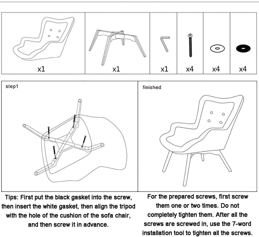 Fauteuil Fauteuil Moderne Minimaliste Chaise Longue Chambre Balcon Canapé Chaise Longue Conception D'accoudoirs pour Une Assise Confortable (avec Repose-Pieds) Heineland