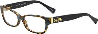 Coach Women's HC6078 Eyeglasses, Teal Confetti/Teal, 52/16/135