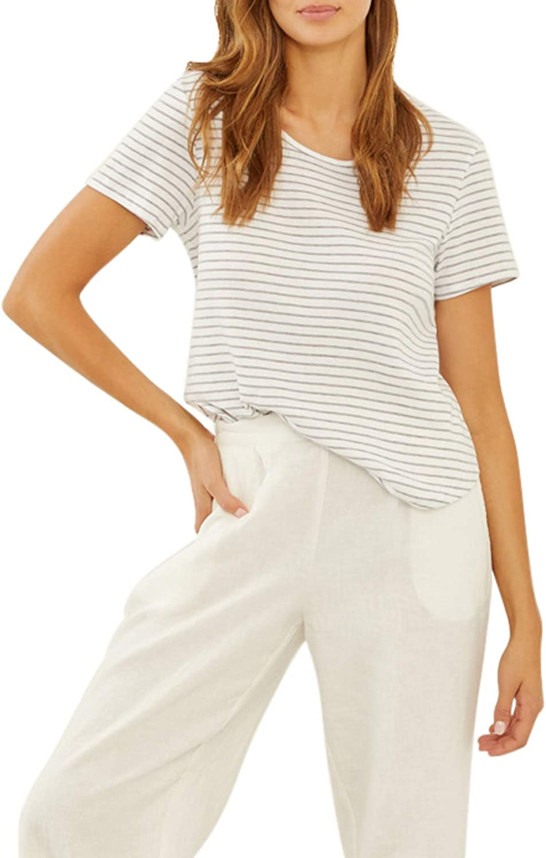 Three San Antonio Mall Dots 100% quality warranty Women's T-Shirt Stripe Cotton