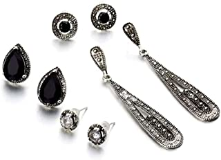 4d8059103 Shining Diva Fashion Grey Crystal Stylish Combo of 4 Earrings For Women and  Girls (9888er