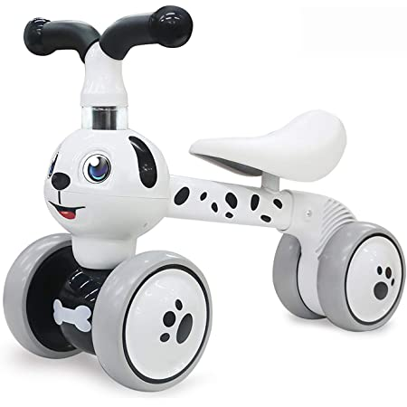 BADIQI Baby Balance Bikes Bicycle Baby Toys for 1 Year Old Boy Girl 10-24 Months Toddler Bike Infant No Pedal 4 Wheels First Birthday Gift Children Walker
