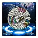 QGGESY Balón de fútbol n. ° 4 o n. ° 5, balón de fútbol Luminoso Fresco Reflectante Fluorescente Luminoso, Utilizado para el Entrenamiento de exámenes para Adultos y niños,NO.4