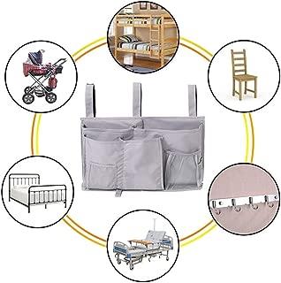 Bidiri Hanging Bedside Storage Bag - Multi-Functional 8 Pockets Organizer Caddy Holders Bag for Bunk Bed, Dormitory, Bed Rails, Hospital Bed & Baby Cot (Grey)