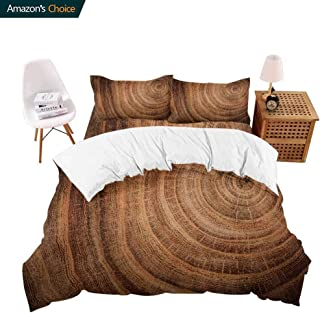 shirlyhome Hotel Luxury Bed Sheet Set-Sale Stump Oak Tree felle Section The Trunk nual California King
