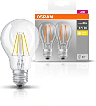 OSRAM LED Base Classic A / LED lamp, Classic Bulb Shape, in Filament Style, with Screw Base: E27, 4 W, 220…240 V, 40 W Rep...