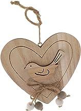 NC Coração de Amor Pendurado em Madeira Rústica com Pássaros E Casamento