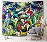 Sosolong Japanese Anime Tapestry One Piece Tapestry for Room Decor Boys Bedroom Wall Decor (One Pieces 2, 59in*51in)