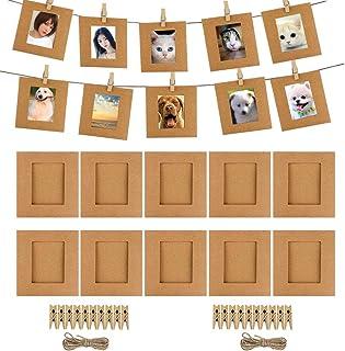 2e75f67cb6 Cpano 20pcs Papel Decoración de la Pared para Colgar Fotos de película Marco  para Fujifilm Instax Mini 8 7S 8 + 9 25 26 50s 90 Polaroid películas y  Tarjeta ...