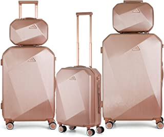 Luggage Suitcase Sets PC+ABS Travel Suitcase with Cosmetic Case Durable Hardshell Spinner Wheels Luggage Carry on Design, ...