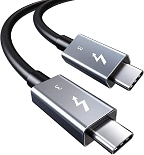 CABLETIME USB Type C Thunderbolt 3 ケーブル USB-C & USB-C 超高速 40Gbps 100W出力 USB3.1 / 3.0 / 2.0 対応 5K/ウルトラHD 60Hzビデオ伝送 USB3.1 /...