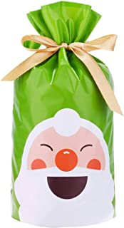 Gift Bags Christmas Drawstring Treat Bags Candy Goodies Bags Food Storage Bags Gift Wrapping Package Paty Favor Bags, 50 PCS