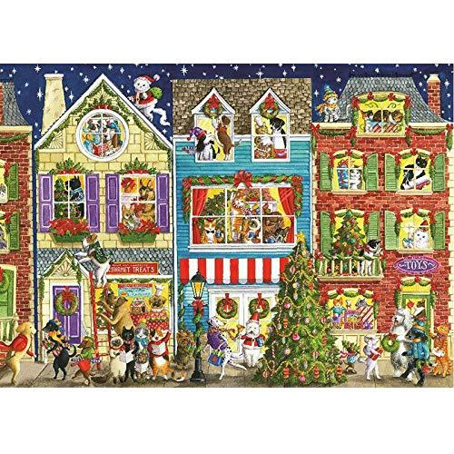 【Actualización】 Rompecabezas de 1000 piezas, Papá Noel Elk muñeco de nieve para adultos y niños, juego de descompresión educativa intelectiva para el tiempo libre juguetes DIY Puzzles para decora
