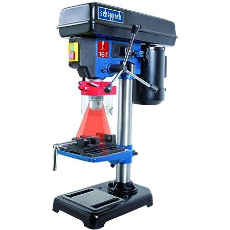 710 W Laser SCHEPPACH DP55 Tischbohrmaschine Bohrmaschine 13 mm LED Laser 2600 min-1 Drehzahl: 500 Digitaldisplay Bohrfutterspannbereich: 1,5 13 mm