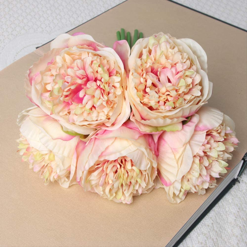 MZXUN Artificial outlet Flower Home Decor Pe Bunch 5 ☆ very popular of Peony