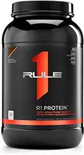 R1 Protein Whey Isolate/Hydrolysate, Rule 1 Proteins (38 Servings, Chocolate Peanut Butter)