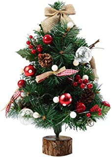 Sonmer Artificial Flocking Christmas Tree, LED Multicolor Lights For Holiday Window Decoration