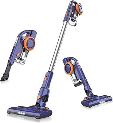 ORFELD Cordless Vacuum, 18000pa Stick Vacuum 4 in 1,Up to 50 Minutes Runtime, with Dual Digital Motor for Deep Clean Whole House