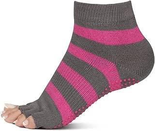 Vector X Open Toe Yoga Socks (Pink-Grey)