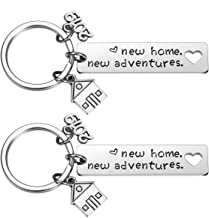 New Home Keychain 2019 Housewarming Gift for New Homeowner House Keyring Moving in Key Chain New Home Owners Jewelry from Real Estate Agent