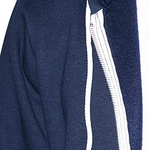 American Apparel Women's Flex Fleece Long Sleeve Zip Hoodie Hooded Sweatshirt, Navy, Small