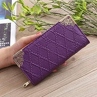 Long Wallet Women Purses FashionHollow Embossed Lingge Wallet Lady Sweet Clutch Wallet Multi-Card Purse Portefeuille