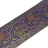 Zari-Band, gewebt, indische Kunstseide, Borte aus Brokat,