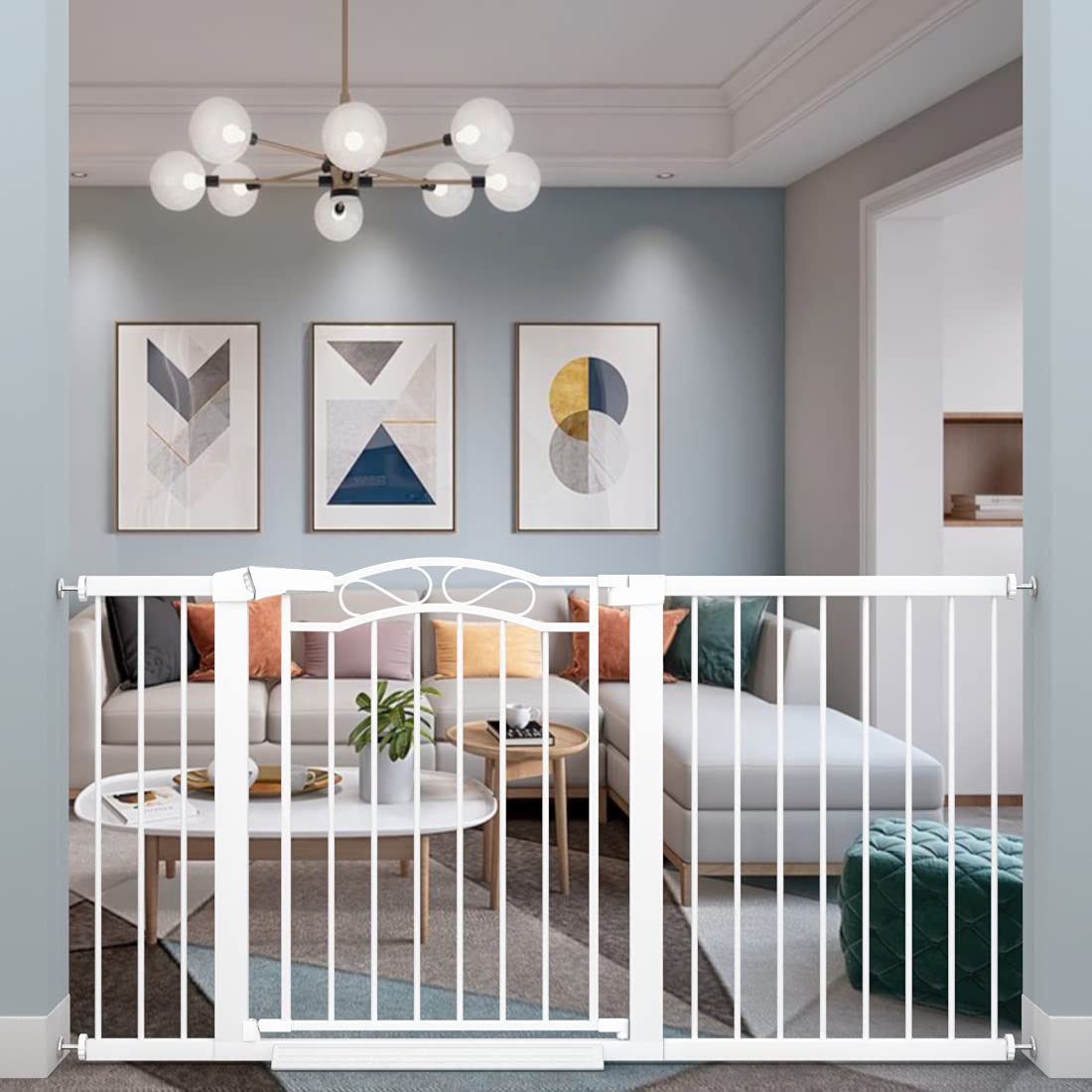Fairy Baby Extra Wide Baby Gate for Kids Or Pets Walk Thru Dog Gates for The House Doorway Child Safety Gate 59.84