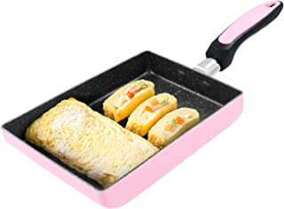 IAXSEE Tamagoyaki Pan Japanese Omelette Pan, Non-stick Coating Square Egg Pan to Make Flawless Omelets or Crepes 5.1×7.1In...