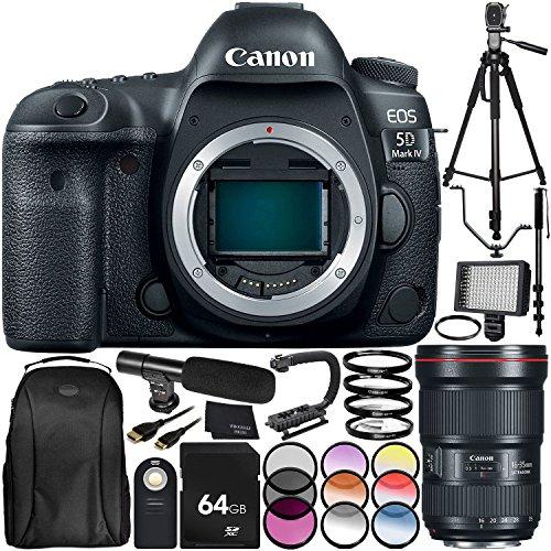 Best Deals! Canon EOS 5D Mark IV DSLR Camera with EF 16-35mm f/2.8L III USM Lens 30PC Accessory Bund...