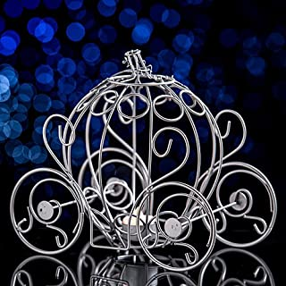 Silver Princess Fairytale Carriage Centerpiece Party Supplies Decorations