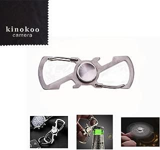 kinokoo Practical Finger Toy Stainless Steel Key Chain and Bottle Opener EDC Toy Finger Spinner