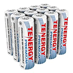 HIGH POWER ENERGY - Tenergy's Premium NiMH AA batteries offers our highest capacity possible. Generate long term energy savings by switching from alkaline household AA batteries to rechargeable batteries. PROFESSIONAL RELIABILITY - These Premium Rech...