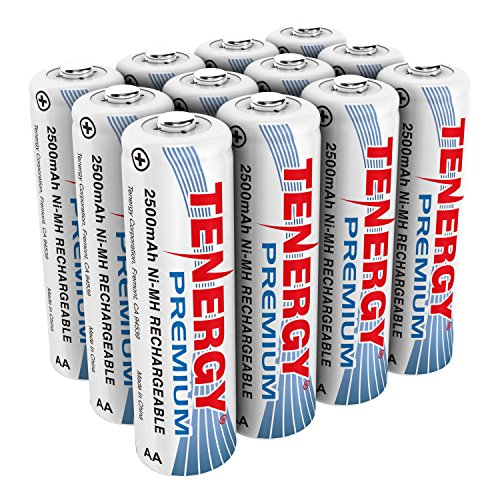 Tenergy Premium Rechargeable AA Batteries