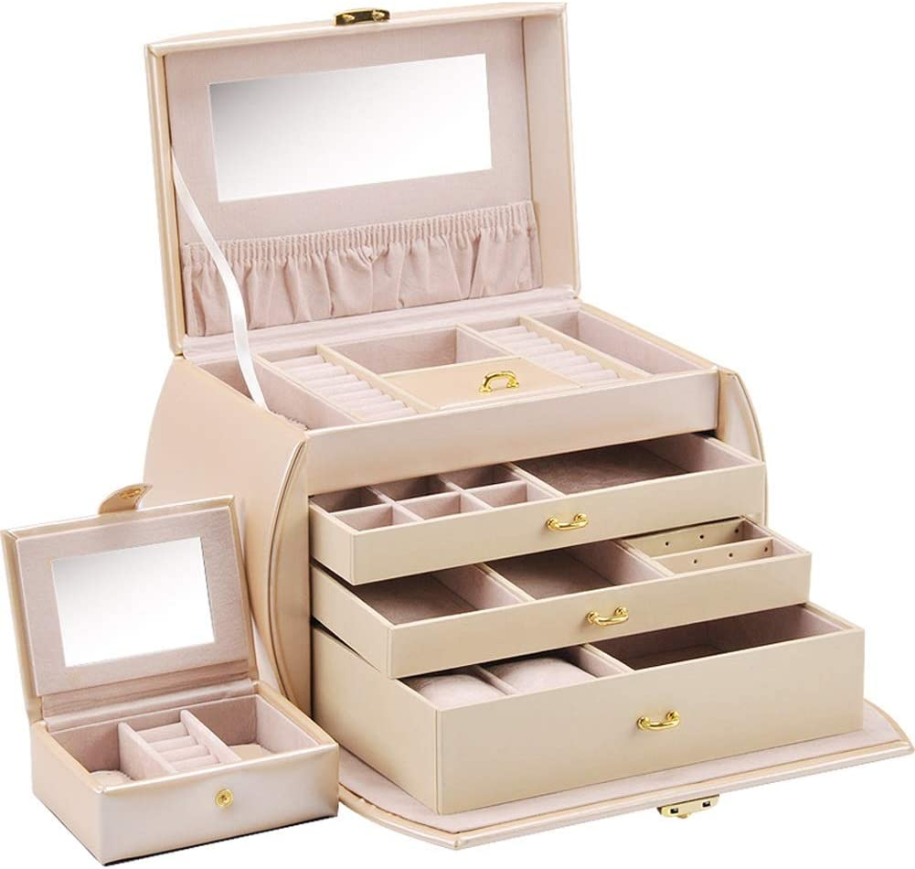 Jewelry Box Earrings Ring Weekly update Necklace Deluxe Jewe Storage Multi-Layer