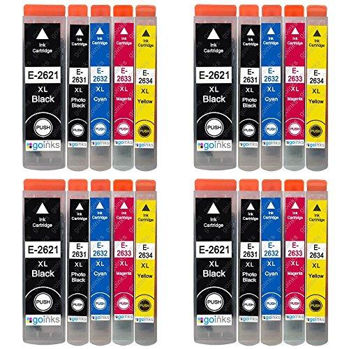4 GB Inks - Set di 5 cartucce di inchiostro compatibili con Epson T2636 (26XL Series), non OEM per stampanti Epson Expression Premium (20 inchiostro)