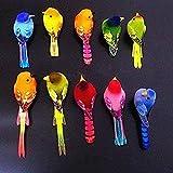 Gwill Paquete de 10 piezas de 6 a 10 cm de diferentes tamaños de espuma simulada para pájaros, manualidades, decoración de nevera, jardín, decoración del hogar