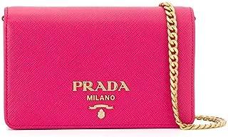 Women's Saffiano Leather Small Shoulder Handbag Pink