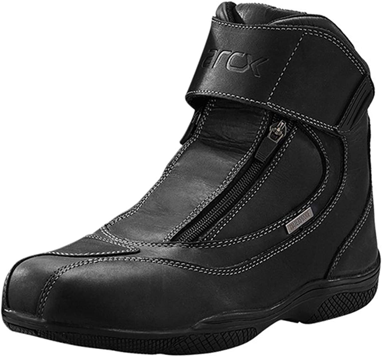 Freahap Motorcycle Boots Men Topgrain Leather Boots Waterproof Racing Boots